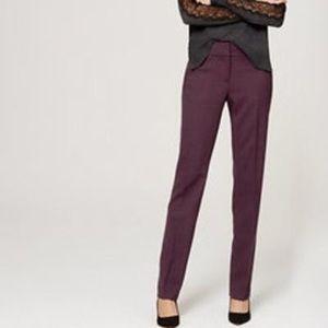 Loft Julie Fit Maroon Pants 2p
